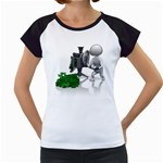Stick Figure Crank Money Ca 1600 Clr Women s Cap Sleeve T