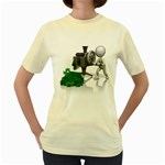Stick Figure Crank Money Ca 1600 Clr Women s Yellow T-Shirt