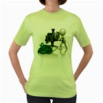 Stick Figure Crank Money Ca 1600 Clr Women s Green T-Shirt