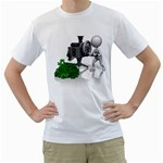 Stick Figure Crank Money Ca 1600 Clr White T-Shirt