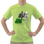 Stick Figure Crank Money Ca 1600 Clr Green T-Shirt