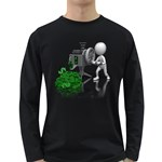 Stick Figure Crank Money Ca 1600 Clr Long Sleeve Dark T-Shirt