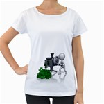 Stick Figure Crank Money Ca 1600 Clr Maternity White T-Shirt
