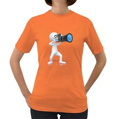 Stick Figure Camera Pc 1600 Clr Women s Dark T Front