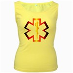 Z4a Women s Yellow Tank Top