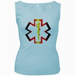 Z4a Women s Baby Blue Tank Top