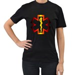 Z4a Women s Black T-Shirt (Two Sides)