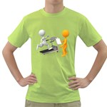 Personal Trainer With Treadmill 1600 Clr Green T-Shirt