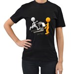 Personal Trainer With Treadmill 1600 Clr Women s Black T-Shirt