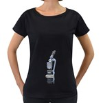 Microscope Pc 1600 Clr Maternity Black T-Shirt