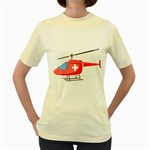 Medical Helicopter Pc 1600 Clr Women s Yellow T-Shirt