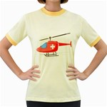 Medical Helicopter Pc 1600 Clr Women s Fitted Ringer T-Shirt