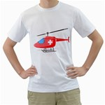 Medical Helicopter Pc 1600 Clr White T-Shirt