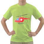 Medical Helicopter Pc 1600 Clr Green T-Shirt