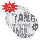 Argentina tango 2.25  Button (10 pack)
