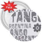 Argentina tango 3  Button (10 pack)