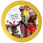 family Color Wall Clock