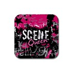 Scene Queen Rubber Square Coaster (4 pack)