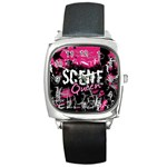 Scene Queen Square Metal Watch