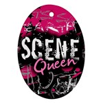 Scene Queen Oval Ornament (Two Sides)