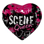 Scene Queen Heart Ornament (Two Sides)