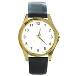 Roseanne Round Gold Metal Watch