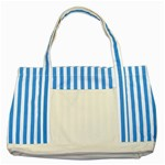 Roseanne Striped Blue Tote Bag