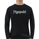 Ngapuhi Paua Design Long Sleeve Dark T-Shirt