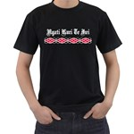 Ngati Kuri Te Iwi Patiki Design Black T-Shirt (Two Sides)