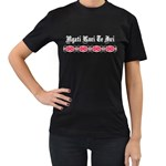 Ngati Kuri Te Iwi Patiki Design Women's Black T-Shirt (Two Sides)