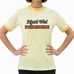 Ngati Wai Women s Fitted Ringer T Front