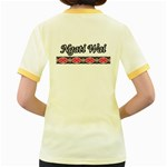 Ngati Wai Women s Fitted Ringer T Back