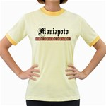 Maniapoto with Rautawa Women's Fitted Ringer T-Shirt