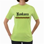 Raukawa with Mangopare Women's Green T-Shirt