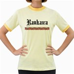 Raukawa with Mangopare Women's Fitted Ringer T-Shirt
