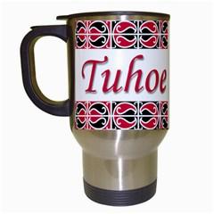 Tuhoe Te Iwi Travel Mug (White) from Maori Creations Left