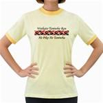 Waikato Taniwha Rau He Piko He Taniwha Women's Fitted Ringer T-Shirt