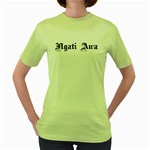 Ngati Awa Paua Highlights Women's Green T-Shirt