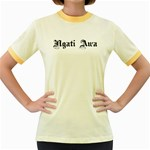 Ngati Awa Paua Highlights Women's Fitted Ringer T-Shirt