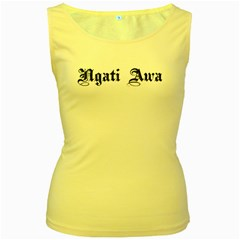 Ngati Awa Paua Highlights Women s Yellow Tank Top from Maori Creations Front