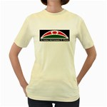 Tuhoe Flag Women's Yellow T-Shirt