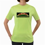 Tuhoe Flag Women's Green T-Shirt