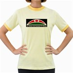 Tuhoe Flag Women's Fitted Ringer T-Shirt