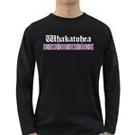 Whakatohea with Rautawa Design Long Sleeve Dark T-Shirt