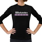 Whakatohea with Rautawa Design Women's Long Sleeve Dark T-Shirt