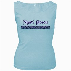 Ngati Porou Design  Women s Baby Blue Tank Top from Maori Creations Front