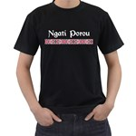 Ngati Porou Design Black T-Shirt (Two Sides)