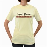 Ngati Porou Design Women s Yellow T-Shirt
