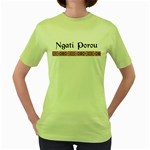Ngati Porou Design Women's Green T-Shirt