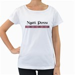 Ngati Porou Design Maternity White T-Shirt